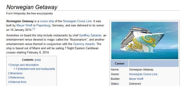 Norwegian Getaway Wiki