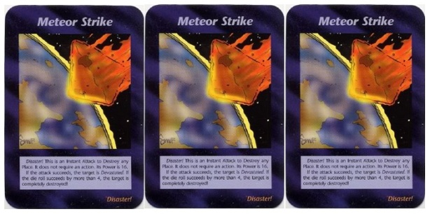 Meteor Strike Illuminati Card Game
