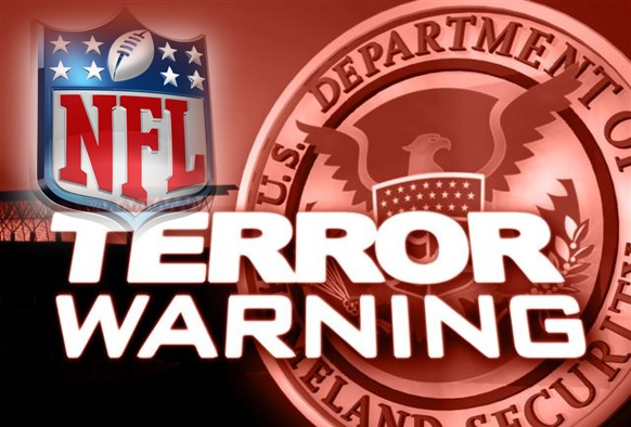 NFL Terror Warning