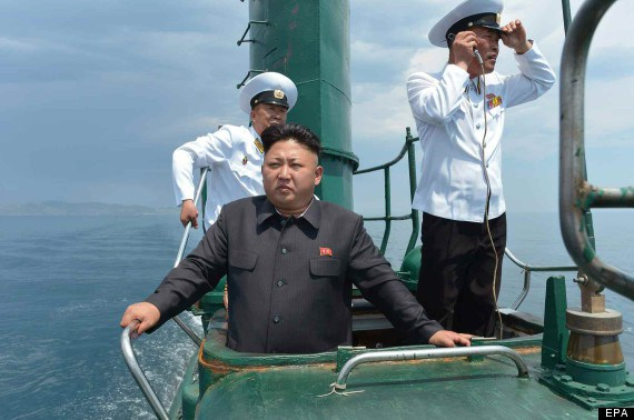 Kim Jon-un visits submarine