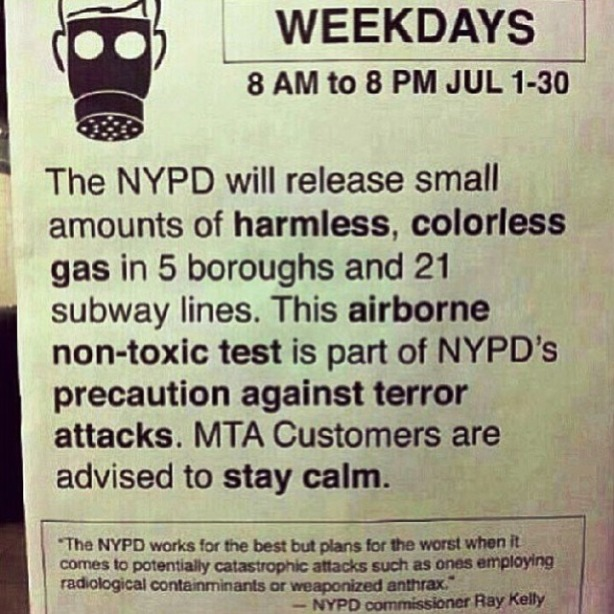 notice-from-mta-informing-passengers-of-nypd-gas-test-in-subways-month-of-july-2013