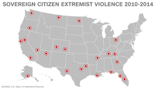 DHS Right Wing Attack Map