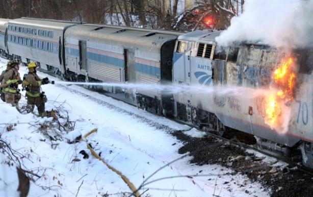 Amtrak Fire Train