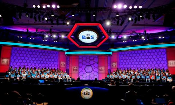 Spellers participate in the preliminary round of the 2013 Scripps National Spelling Bee at the Gaylord National Resort and Convention Center at National Harbor in Maryland, May 29, 2013.     REUTERS/Larry Downing  (UNITED STATES - Tags: SOCIETY)