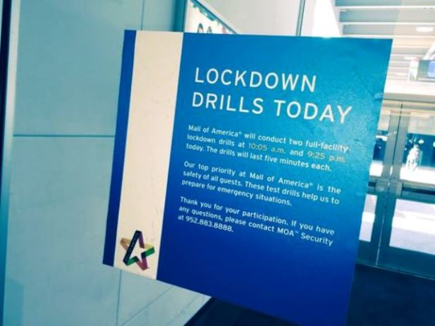 Lockdown Drills Mall of America