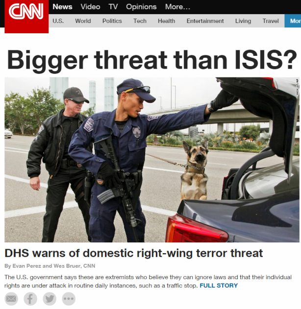 DHS Domestic Terror Threat Soverign Citizens