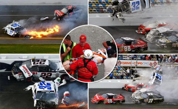 Car-crash-at-Nascar-race