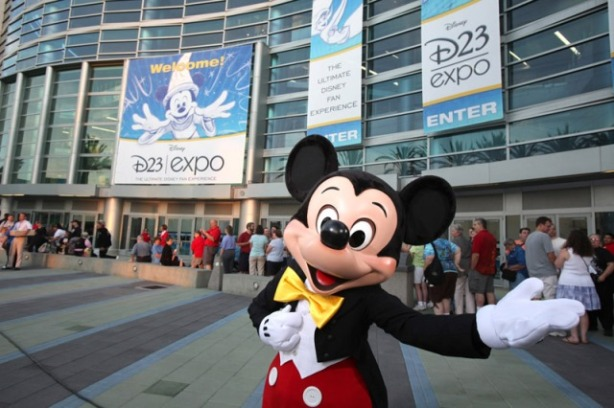 "D23 OPENING DAY — Mickey Mouse welcomes Disney fans from all over the world on opening day of the D23 Expo.  Fans will be given unprecedented access to never-before-seen movies, TV shows, park experiences, collectibles and more from Sept. 10 to Sept. 13 at the Anaheim Convention Center as Disney and ""D23: The Official Community for Disney Fans"" present the first-ever D23 EXPO.  (Paul Hiffmeyer/Disney)"
