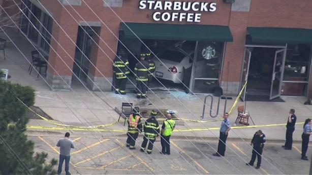 Starbucks Car Crash