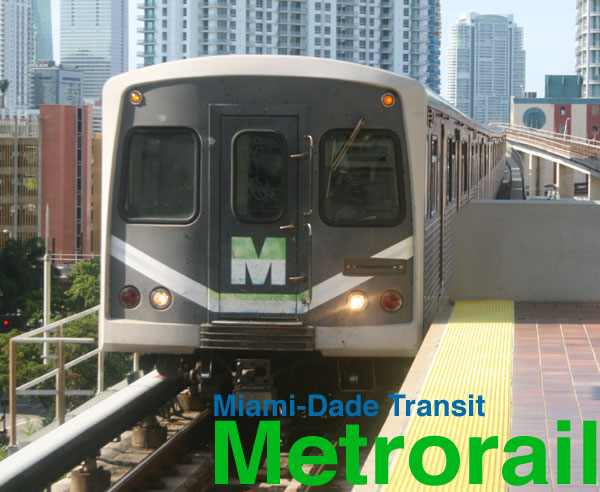 Miami Metrorail train subway