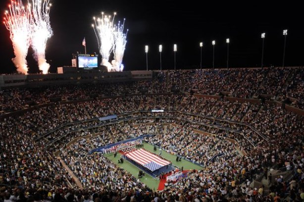 at the U.S. Open tennis tournament in New York, Monday, August 25, 2008. (AP Photos/Henny Ray Abrams)