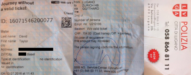 Lugano Train Ticket & Police Card.png