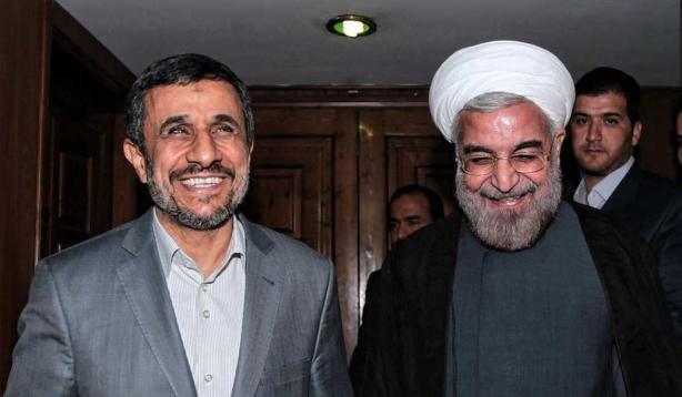 Rouhani Ahmadinejad 2013 AFP.jpg