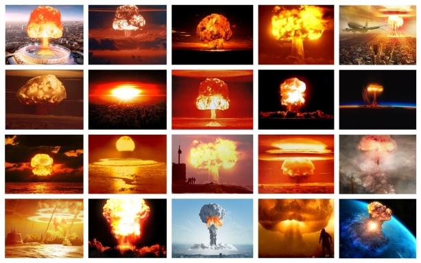 WORLD WAR III NUKE NUCLEAR COLLAGE
