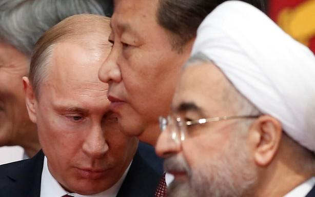 Vladimir Putin, Xi Jinping, Hassan Rouhani