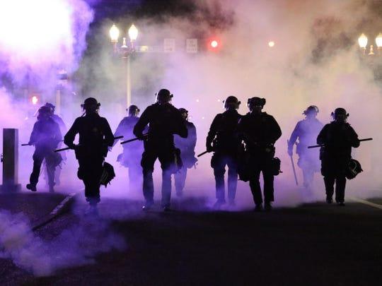 riot teargate trump