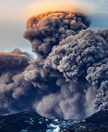 Volcano iceland Icelandic